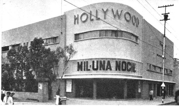Edificio y cine Hollywood. 1939