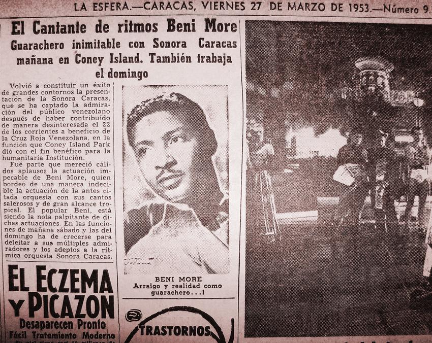 Beni More, Pedro Infante, entre otras grande figuras de la época ocuparon los escenarios del Coney Island